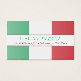 Italian Flag, Fully Customizable Business Card
