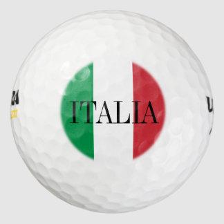 Italian flag golf ball set | Italy pride