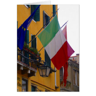 italian flag greeting cards