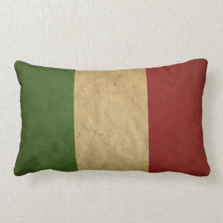 Italian Flag Grunge Colors Lumbar Pillow