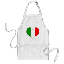 Italian Flag Heart Adult Apron
