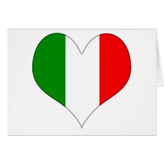 Italian Flag Heart Card