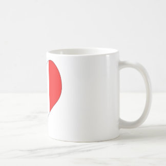 Italian Flag Heart Coffee Mug