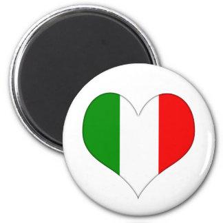 Italian Flag Heart Magnet