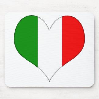 Italian Flag Heart Mouse Pad