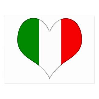 Italian Flag Heart Postcard