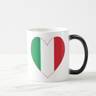 Italian Flag Heart Red Border Magic Mug