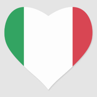 Italian Flag Heart Sticker