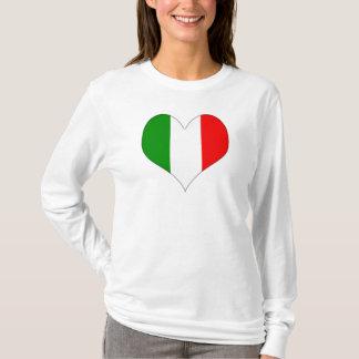 Italian Flag Heart T-Shirt
