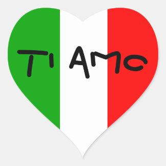 Italian Flag Heart Ti Amo stickers