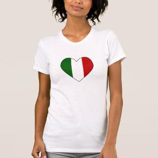 Italian Flag Heart Valentine T Shirt