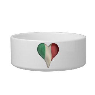 Italian Flag In A Heart Bowl