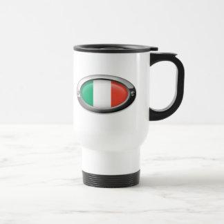 Italian Flag in Steel Frame Mugs