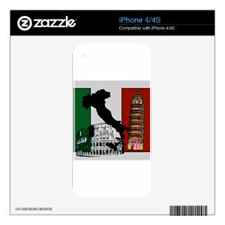 Italian Flag iPhone 4 Skins