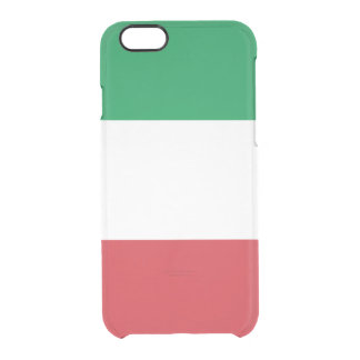 Italian Flag Uncommon Clearly™ Deflector iPhone 6 Case
