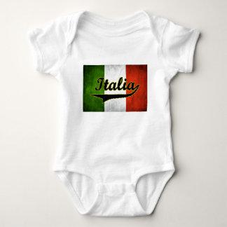 Italian Flag Italia Black Glass (Baby Creeper) Baby Bodysuit