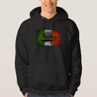 Italian Flag Italia Black Glass Hoody