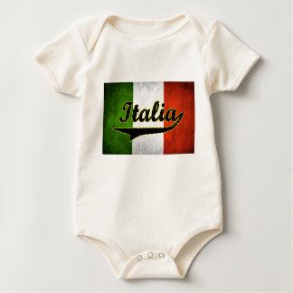 Italian Flag Italia Black Glass White (Baby) Baby Bodysuit