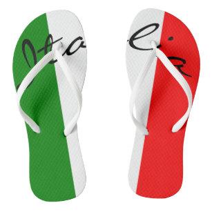216034328a8d73 Italian Flag Italia Italy Beach Pool Flip Flop