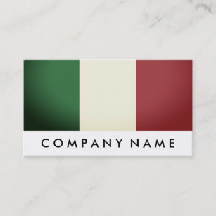 Italian business cards templates zazzle italian flag italy business card colourmoves