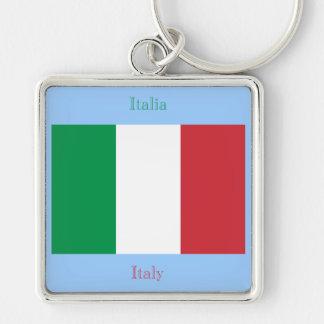 italian Flag Keychain