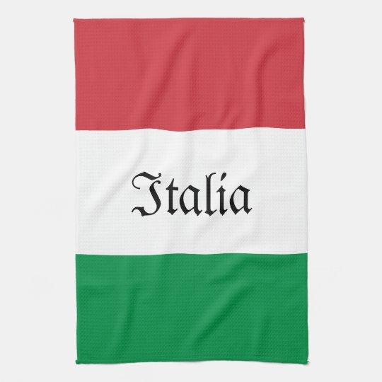 Italian Flag Kitchen Towel