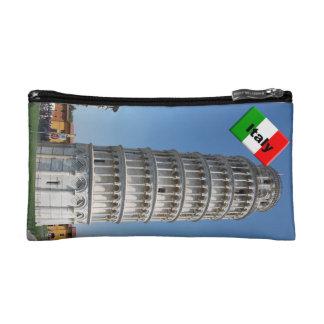 Italian Flag Leaning Tower Pisa Makeup Bag