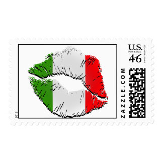 Italian Flag Lips Postage Stamps