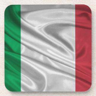 Italian Flag Logo Drink Coaster