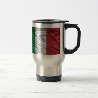 Italian Flag Logo Travel Mug