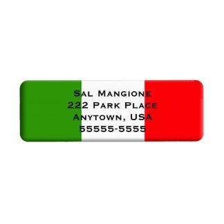 Italian Flag Long Address Label Template