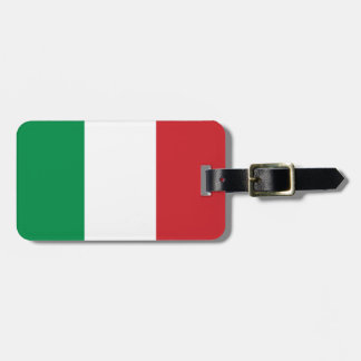 Italian flag luggage tag