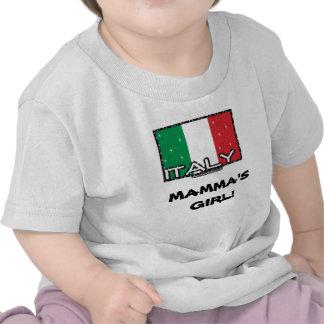 Italian Flag, MAMMA'S GIRL! Tee Shirts