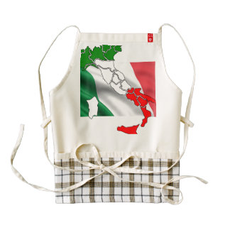 Italian flag map country honor banner zazzle HEART apron