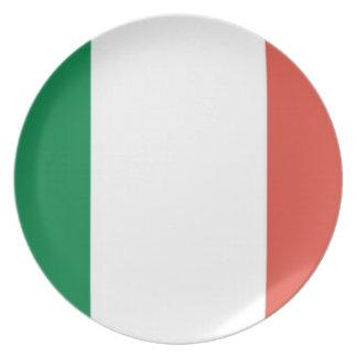 italian flag melamine plate