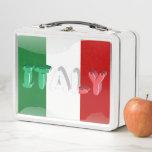 "Italian flag metal lunch box<br><div class=""desc"">Flag of Italy,  classic patriotic pattern</div>"