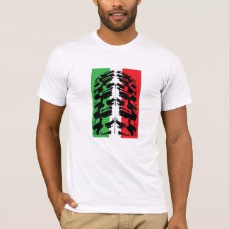 Italian Flag Mountain Bike Tire T-Shirt