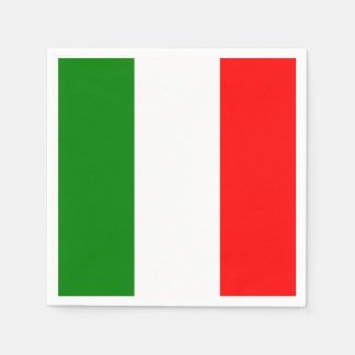 Italian Flag of Italy Bandiera d'Italia Napkin
