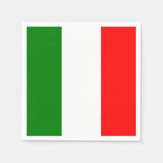 Italian Flag of Italy Bandiera d'Italia Napkin Standard Cocktail Napkin