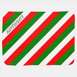 Italian Flag of Italy bandiera d'Italia Tricolore Swaddle Blanket