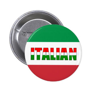 Italian-Flag of Italy! Buttons