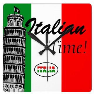 Italian-Flag of Italy Clock