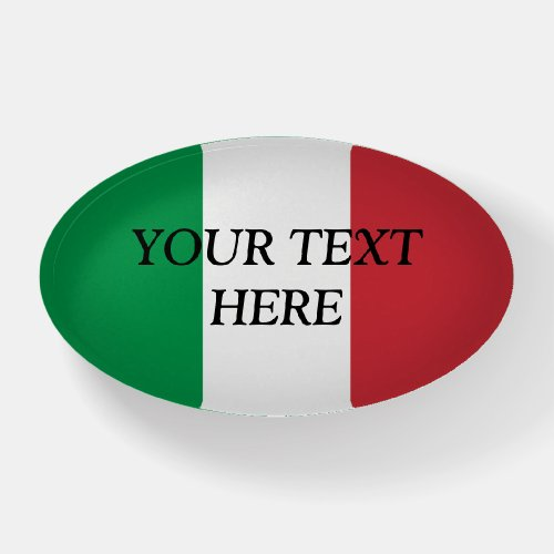 Italian flag of Italy custom paperweight gift