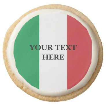 Italian flag of Italy custom Round Shortbread Cookie
