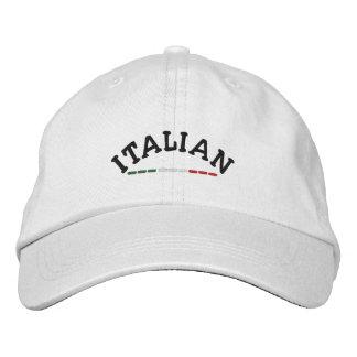 Italian & Flag of Italy Embroidered Baseball Cap