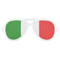Italian Flag of Italy Green White Red il Tricolore Aviator Sunglasses
