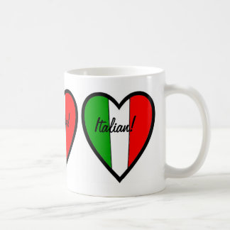 Italian-Flag of Italy-Heart Coffee Mug