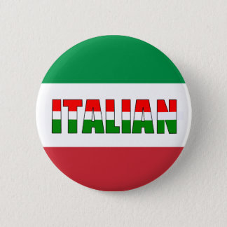 Italian Flag of Italy Pinback Button