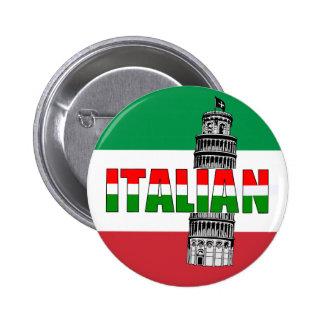 Italian Flag of Italy Pisa Button