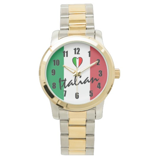 Italian-Flag of Italy Wrist Watches
